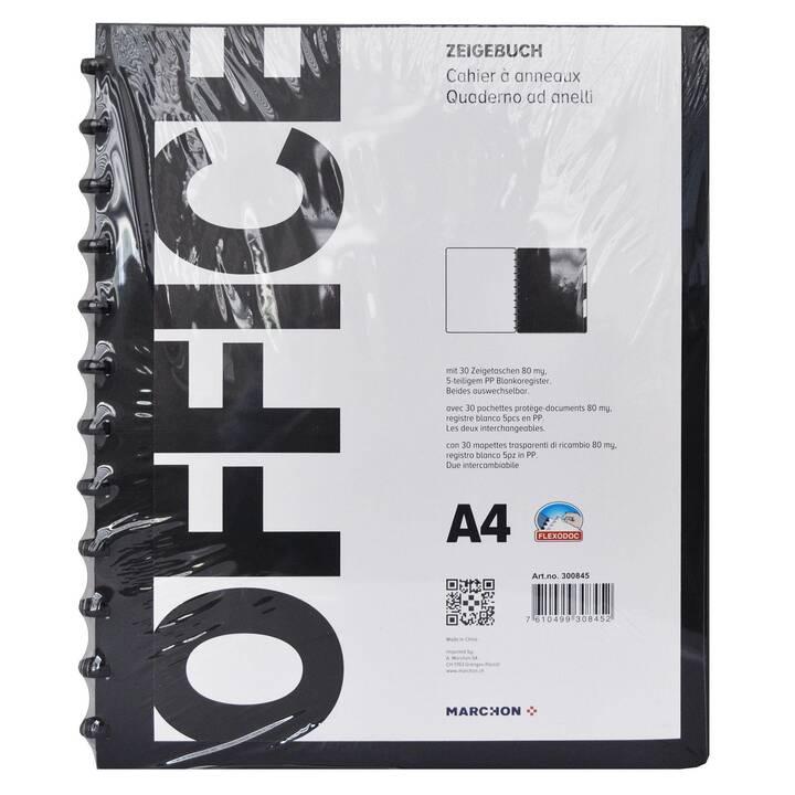 MARCHON OFFICE Dossiers chemises (Noir, A4, 1 pièce)