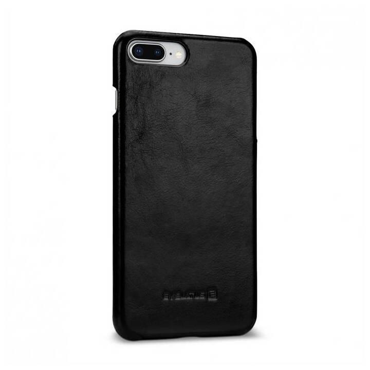 EVELATUS Backcover Leather (iPhone 7 Plus, iPhone 8 Plus, Schwarz)