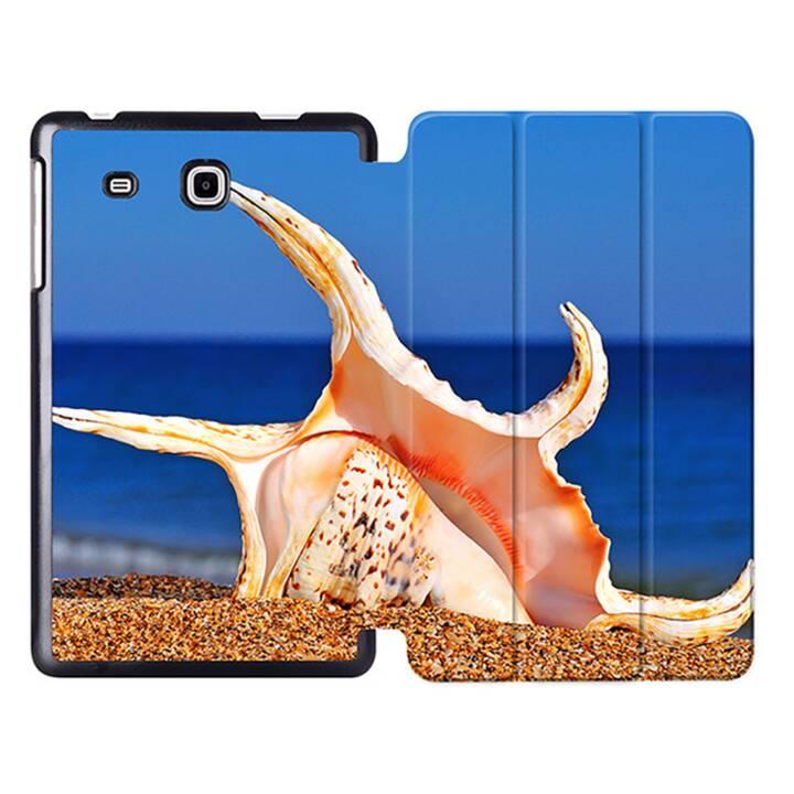 """EG MTT Sacoche à comprimés avec housse pliable Smart pour Samsung Galaxy Tab A6 7"""" A6 Tablet - Beach"""