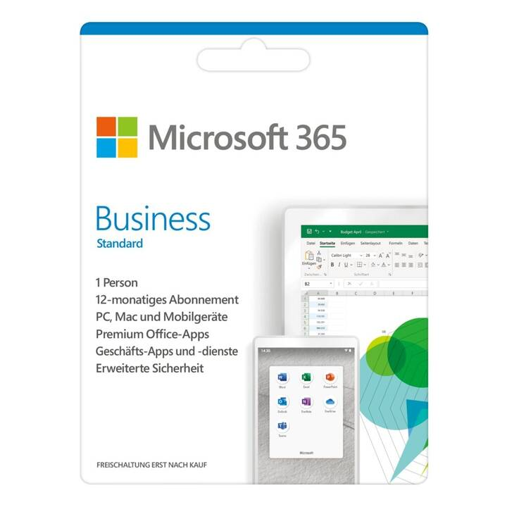 MICROSOFT 365 Business Standard (Abo, 1x, 1 Jahr, Deutsch)