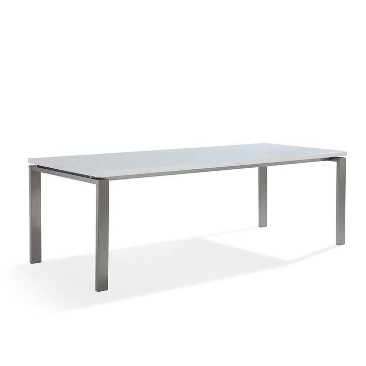 BELIANI Tavolo da pranzo Arctic II (220 cm x 90 cm x 76 cm, Bianco, Metallo)