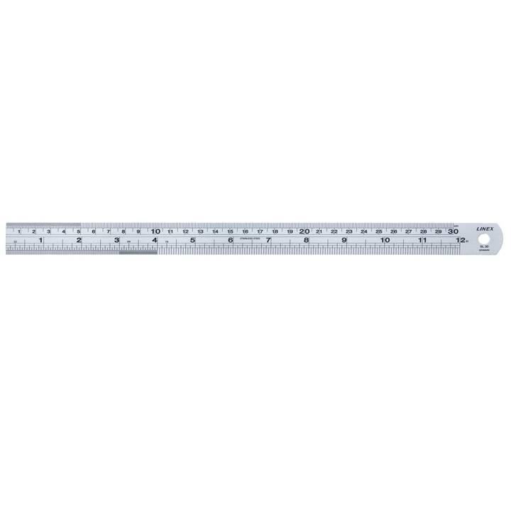 LINEX A/S Règle (30 cm, Argent)