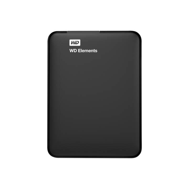 WESTERN DIGITAL Elements (USB 3.0, 1 TB, Schwarz)