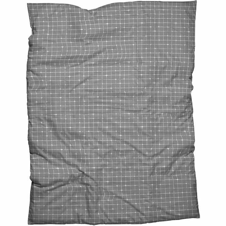 LIVIQUE Housse de couette Silja (200 cm x 210 cm, Gris foncé)
