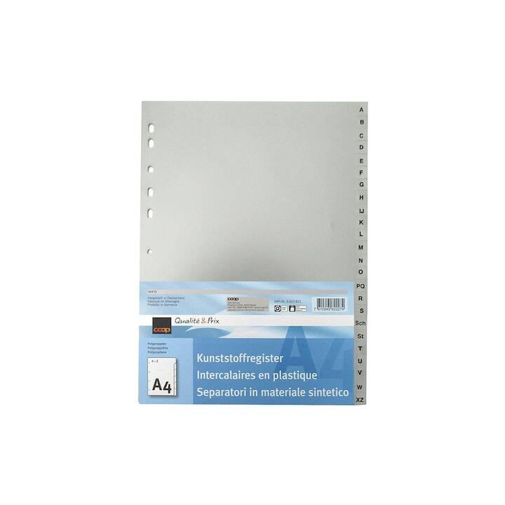 COOP QUALITÉ & PRIX Register Alphabetisch (A4)