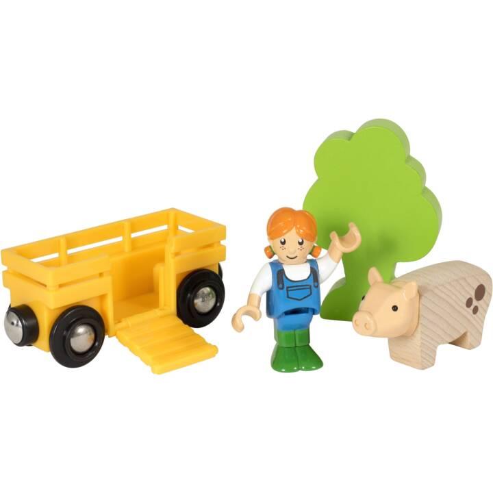Brio Spielpäckchen Bäuerin mit Schwein A