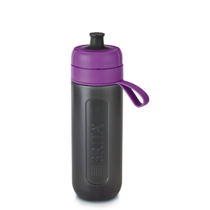 BRITA Bottiglia con filtro integrato Fill&Go Active (0.6 l, Viola, Nero)