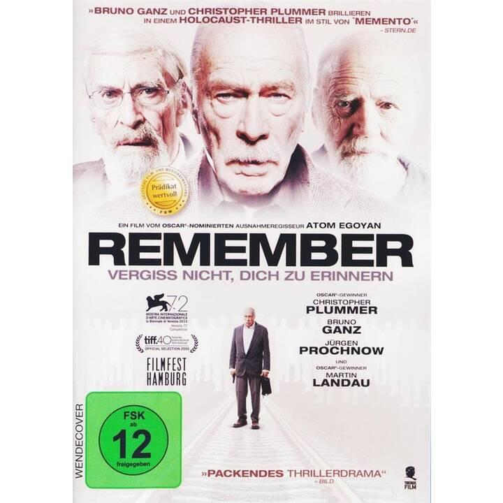 Remember - Vergiss nicht, dich zu erinnern (DE, DE, EN)