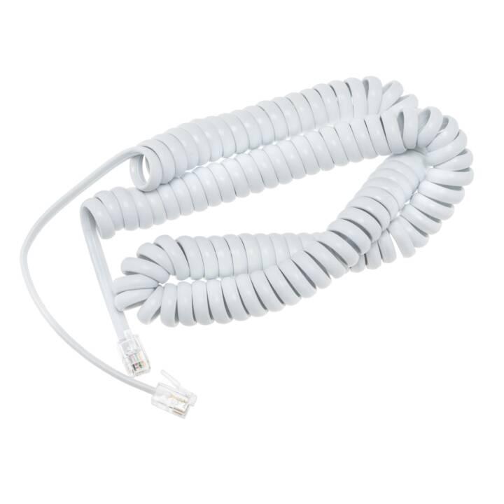 Câble téléphonique SNOM, 4 m, blanc