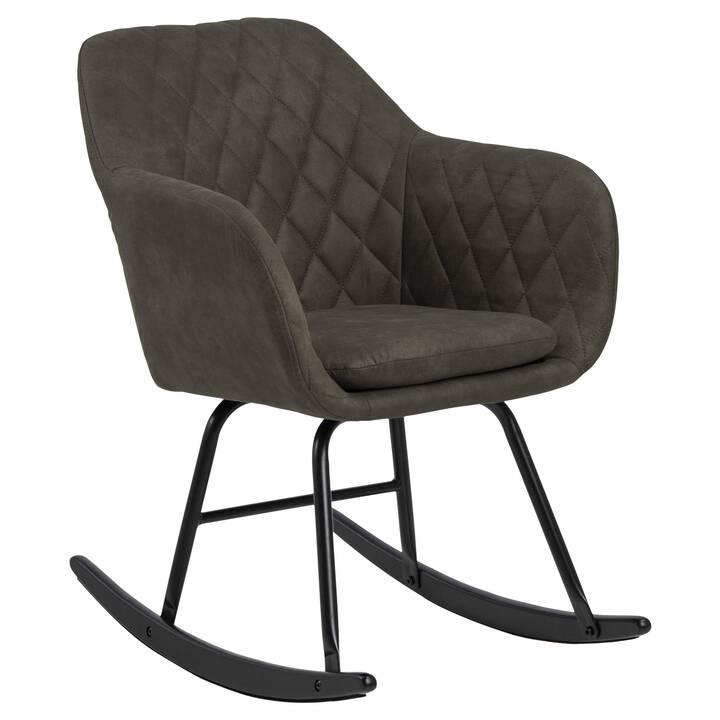 CREATIVE LIVING Chair à bascule Emilia (1 pièce, Hêtre, Polyester)