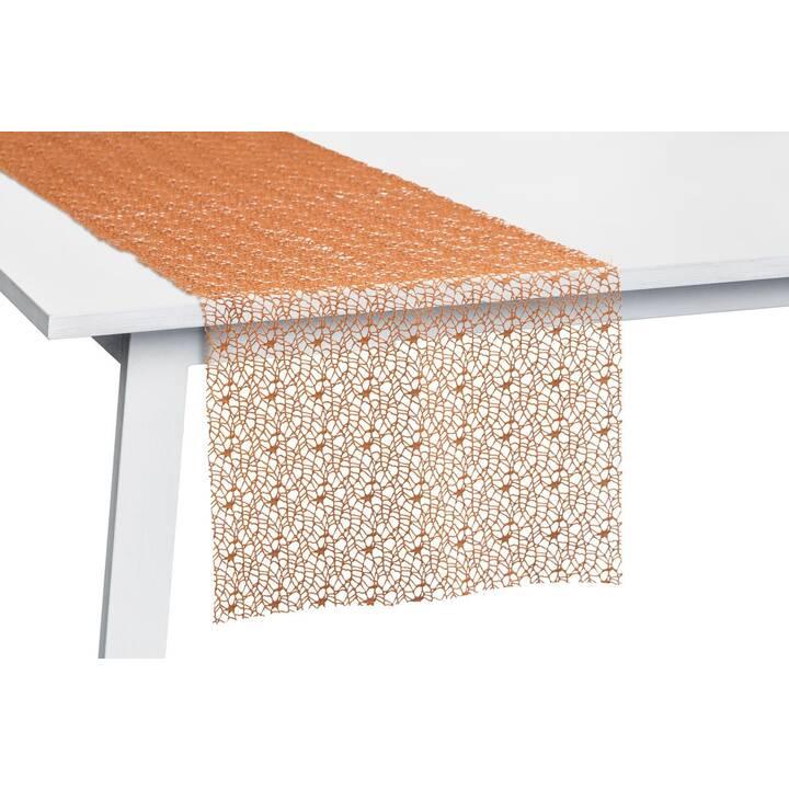 PICHLER Corridore tovaglia Network Zimt (30 cm x 260 cm, Rettangolare, Arancione)
