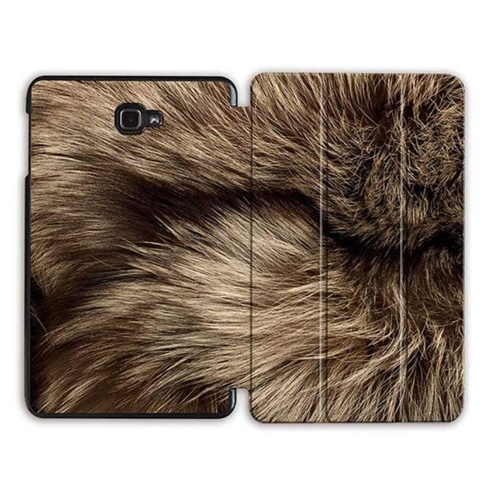 """EG MTT Tablet Tasche mit Smart faltbare Abdeckung für Samsung Galaxy Tab A 10.1"""" (2016)- Tierhaut"""