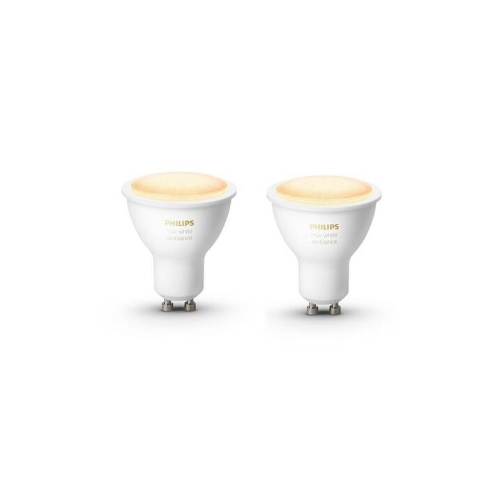 PHILIPS Lampadina LED Hue White ambiance (GU10, Bluetooth, 5.5 W)