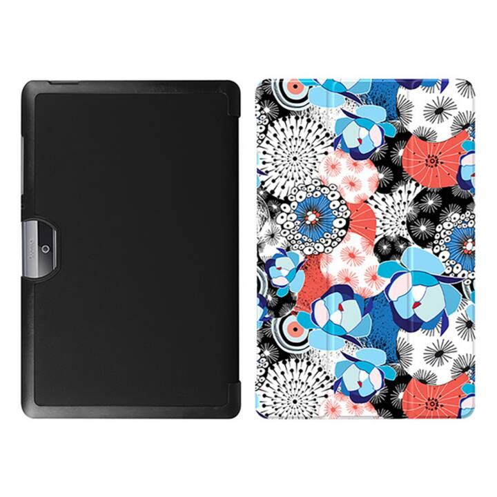 """EG MTT Tablet Tasche mit Klappdeckel für Acer Iconia Tab 10 10.1 """"- Blumen"""