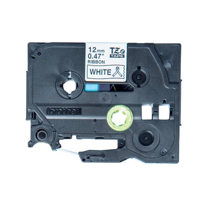 Schriftband-Kassette für Brother P-Touch 1800E 1800ECC 12mm schwarz//weiss