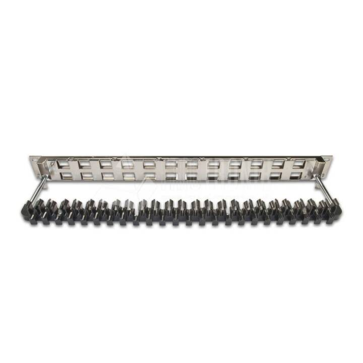 24-Port 1HE Patchpanel, geschirmt Nickel