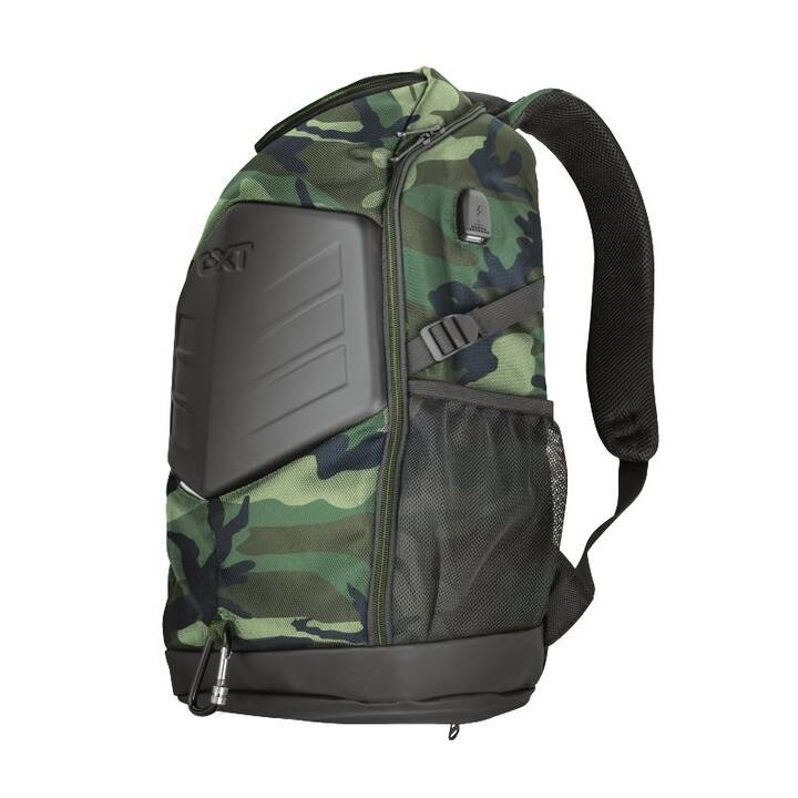 """TRUST GXT 1255 Outlaw Gaming Rucksack (15.6"""", Grün, Camouflage)"""