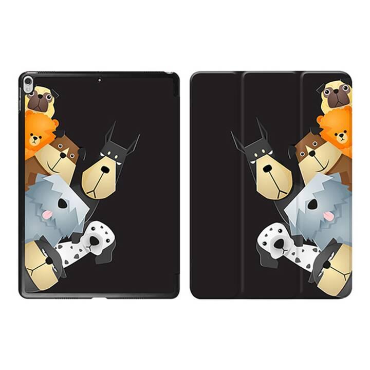 """EG iPad Cover pour Apple iPad Pro 10.5"""" - chiens de dessin animé noirs"""