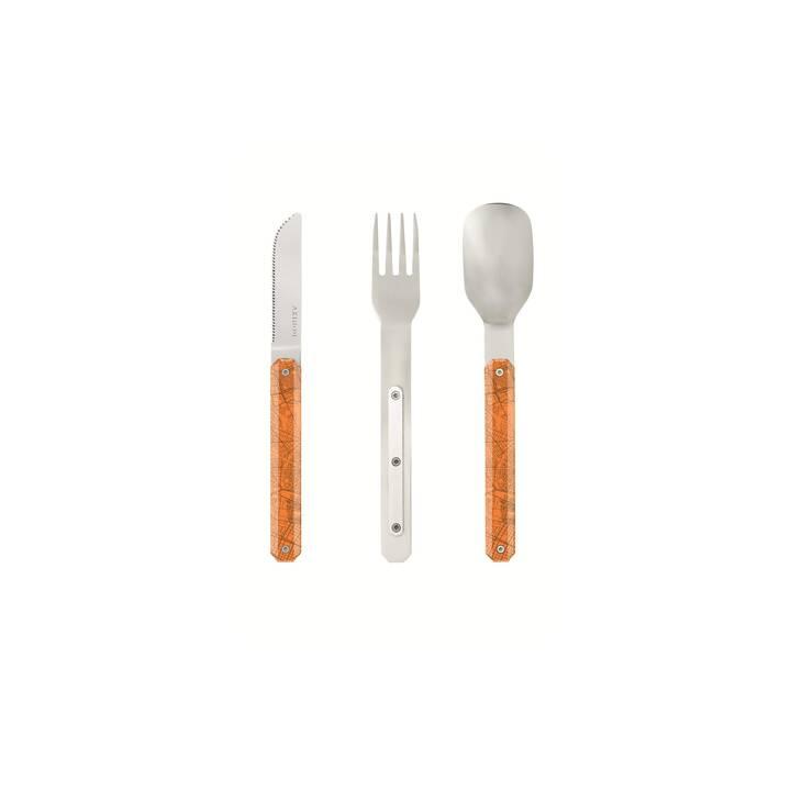 AKINOD Couverts outdoor Straight Cutlery 12h34 (Acier inox, Polymère, Orange)