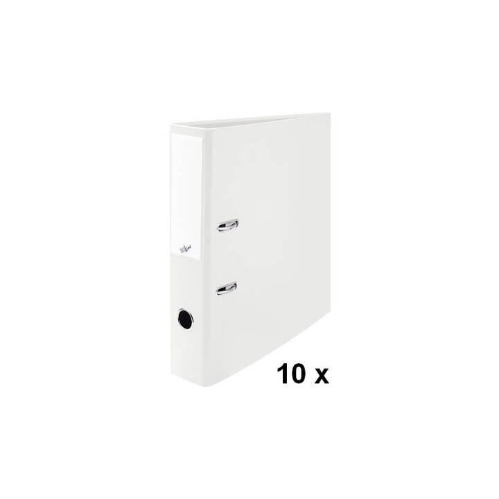 BÜROLINE chemise 7cm blanc 10 pièces A4