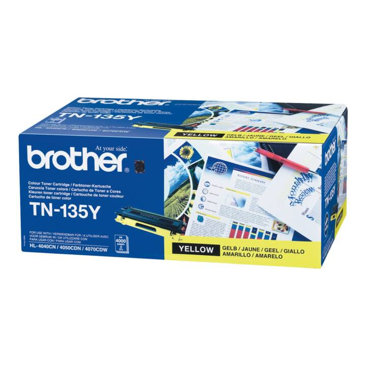 BROTHER TN135Y  (Cartouche individuelle, Jaune)