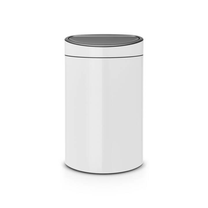 BRABANTIA Poubelle Touch Bin (40 l, Blanc)