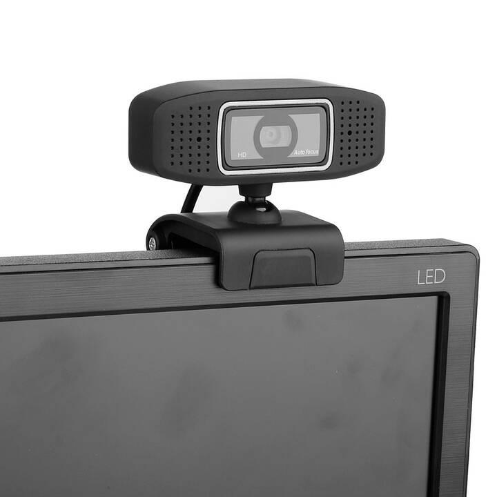 FREEVOICE Vision 320 Webcam (2 MP, Schwarz)