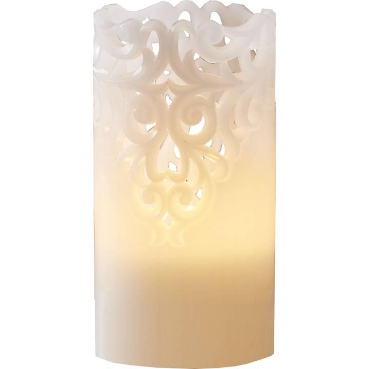 STAR TRADING Pillar Clary Candele LED (Bianco, 1 pezzo)
