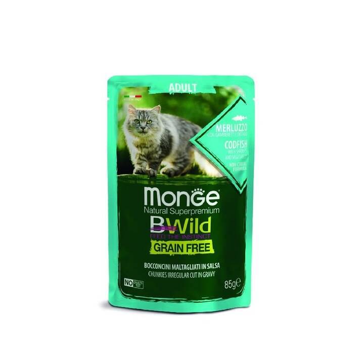 MONGE Cat Bwild (Adult, 85 g, Fisch)