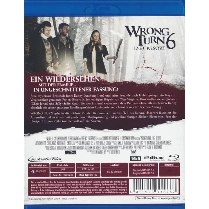 Wrong Turn 6 - Last Resort (DE, EN)