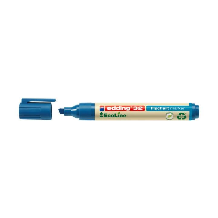 EDDING Flipchart Marker 32 EcoLine (Blau, 1 Stück)