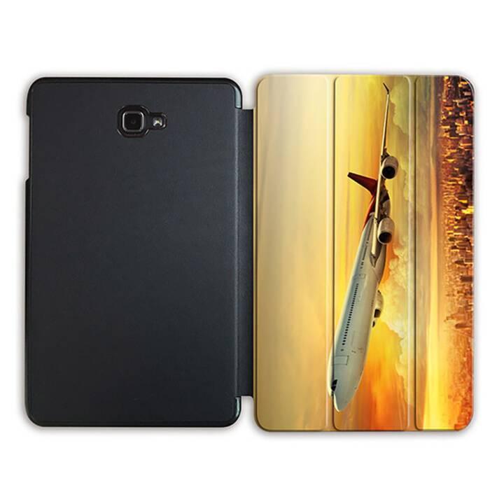 """EG MTT Tablet Tasche mit Smart faltbare Abdeckung für Samsung Galaxy Tab A 10.1"""" (2016)- Flugzeug"""