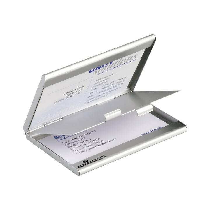 DURABLE Visitenkartenhalter Etui (Silber)