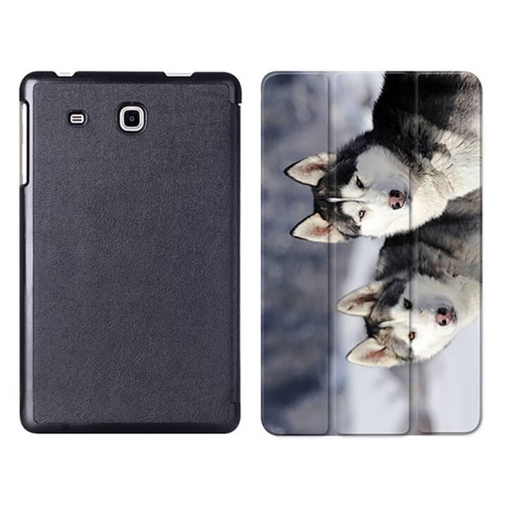 """EG MTT Tablet Tasche mit Smart faltbare Abdeckung für Samsung Galaxy Tab A A6 7 """"- Hunde"""