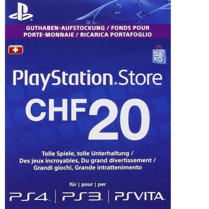 SONY PSN Live-Card CHF 20 (PKC, IT, DE, FR)