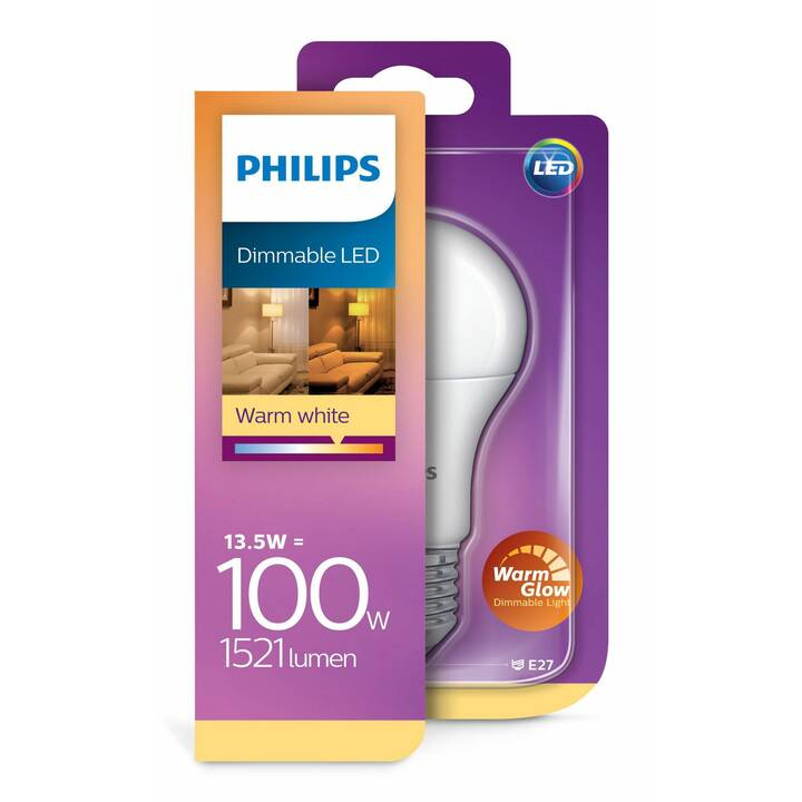 PHILIPS LED Birne Standard  A67 (E27, 13.5 W)