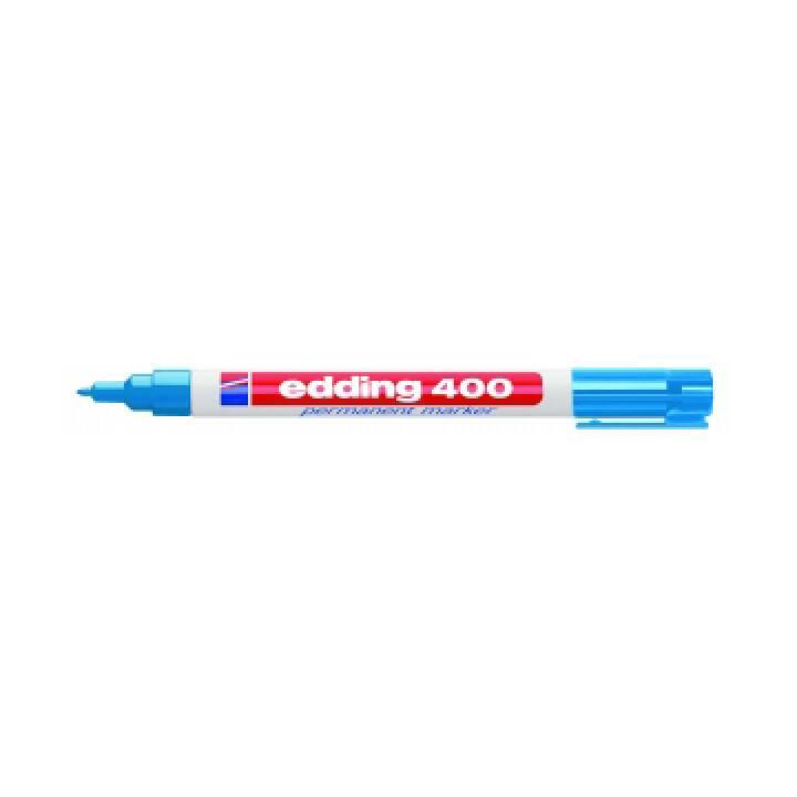EDDING Marqueur permanent 400 (Bleu, 1 pièce)