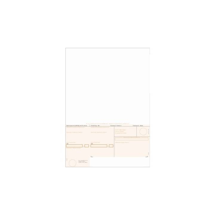 Bulletin de versement SIMFACT BESR orange, A4, 90 g, encadré, 500 feuilles