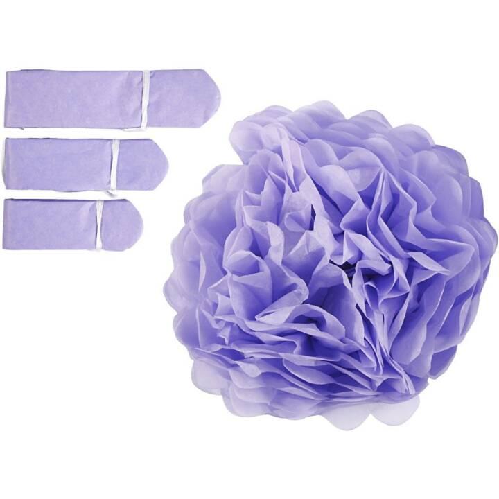 CREATIV COMPANY Pompons Purple