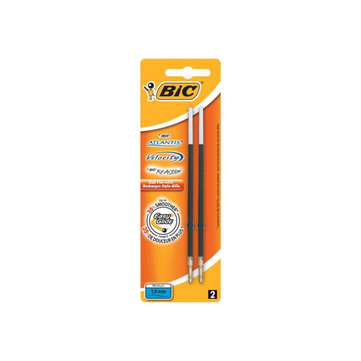 BIC Mine de stylo à bille Mine Atlantis Premium Noir (2 Pièce)