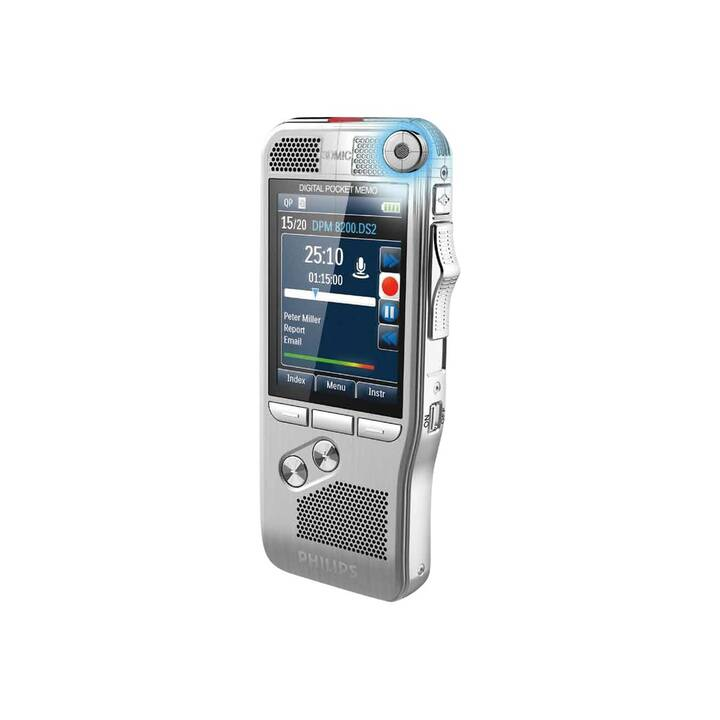 PHILIPS Digital Pocket Memo DPM8200 (4 GB, Argento)
