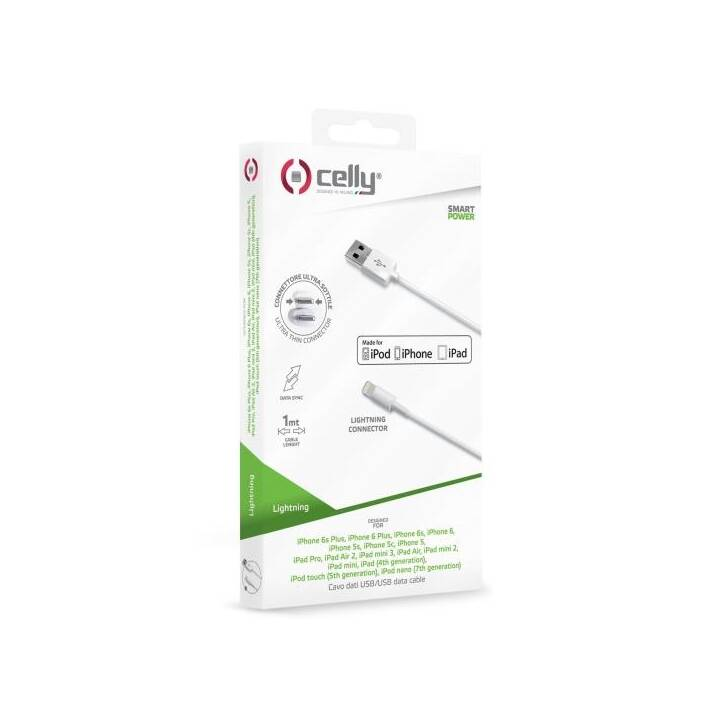 CELLY Cavo (Lightning, USB 2.0 Tipo-A, 2 m)