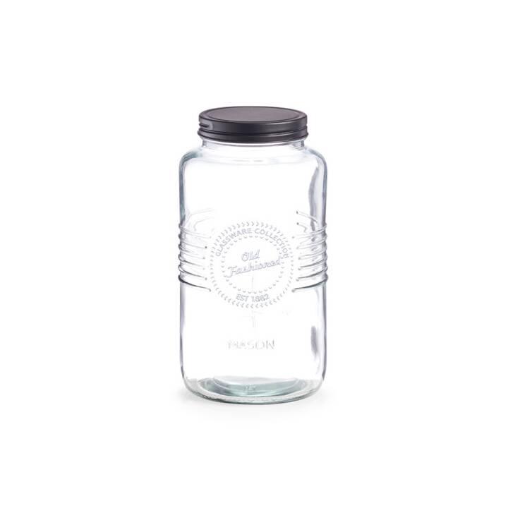 ZELLER PRESENT Vaso per conserve Old Fashioned (2 l, Vetro, Metallo)