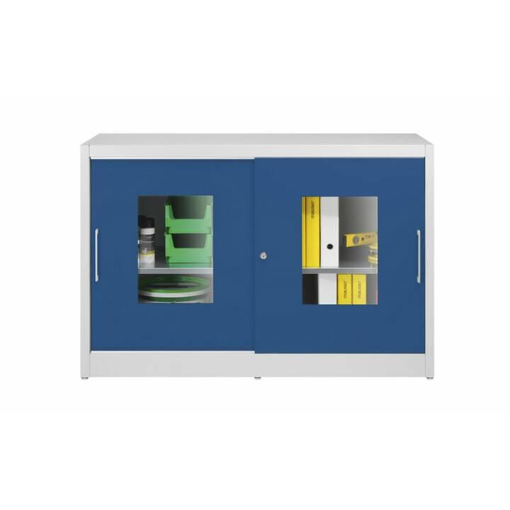 MAUSER Schiebetürschrank (Blau, Grau)