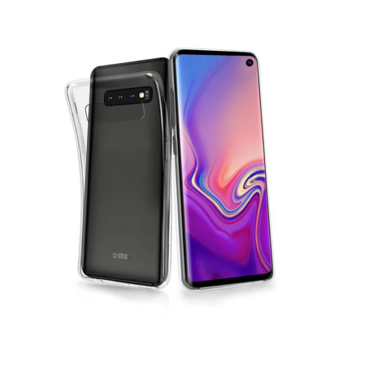 SBS Softcase Cover Skinny  (Galaxy S10, Transparent)