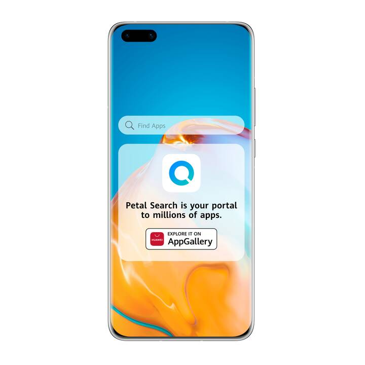 "HUAWEI P40 (5G, 6.1"", 128 GB, 50 MP, Silver Frost) – SANS Google Mobile Services"
