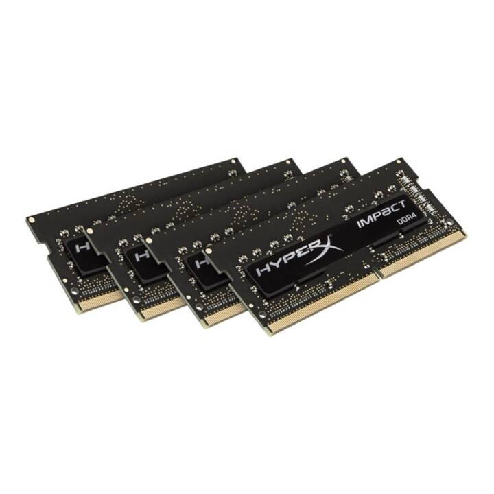 HYPERX Impact (4 x 4 GB, DDR4-SDRAM, SO-DIMM 260-Pin)