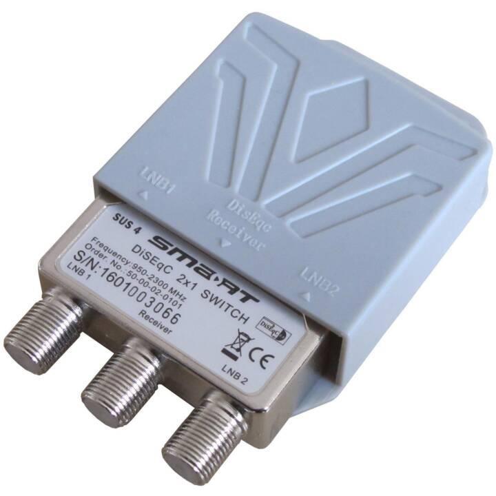 SATELLITEN-ZUBEHÖR NEUTRAL DiSEqC 2/1, 950 - 2300 MHz Tv-equipment Diversi accessori (Grigio)