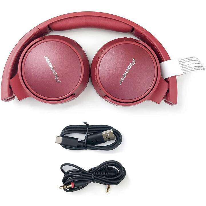 PIONEER SE-S6BN-R (On-Ear, Bluetooth 5.0, Rouge)