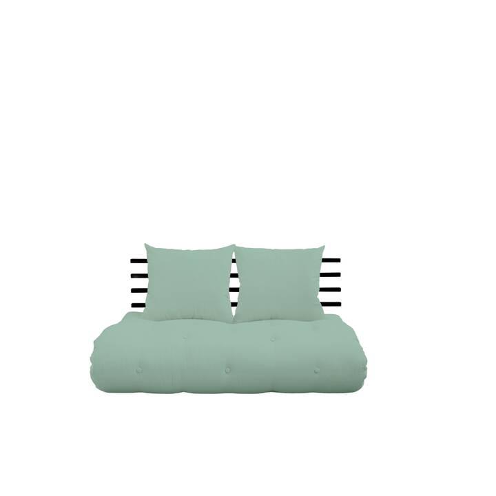 KARUP DESIGN Shin Sano Divano letto (Poliestere, Verde menta, Nero, 140 cm x 85 cm)